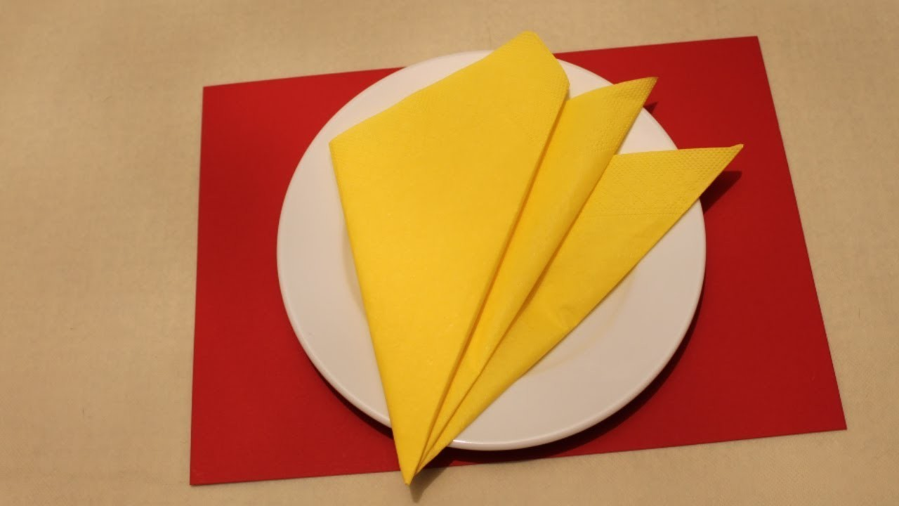 EASY Napkin Folding Tutorials For Beginners My Crafts