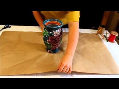 ECO-GIFT WRAPPING: How to Wrap a Vase