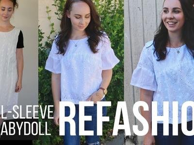 Episode 5: DIY Dress to Bell-Sleeved BabyDoll Refashion