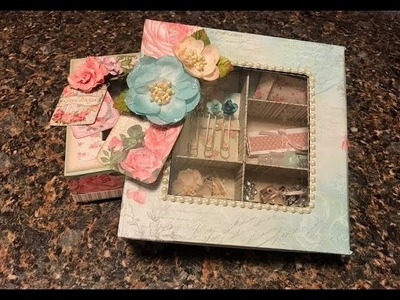 GIFT BOX TUTORIAL PEEK-A-BOO WINDOW & COMPARTMENTS BY SHELLIE GEIGLE JS HOBBIES AND CRAFTS