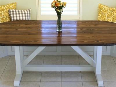 How to Build a Farmhouse Table (Racetrack Design)