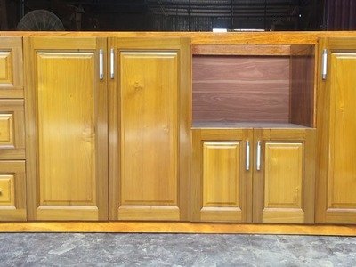 How To Build A Under Kitchen Cabinets - Amazing Woodworking Technology Extremely Primitive