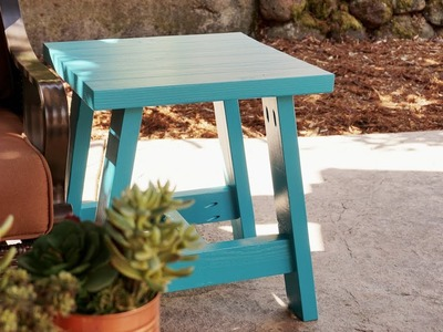How to Build an Outdoor Table Using 2x4s (#2x4andMore)