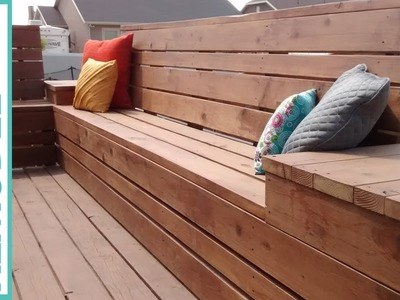 How to Build Space-Saving Deck Benches for a Small Deck