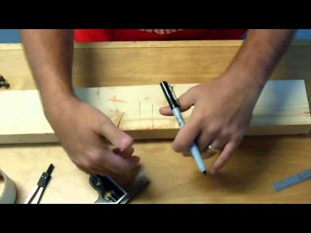 How to carve a working pliers joint (Part 1 of 2: layout): Woodworking project