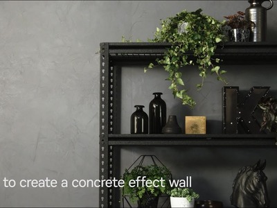 How to create a concrete effect wall