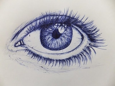 How To Draw An Eye With Ballpoint Pen