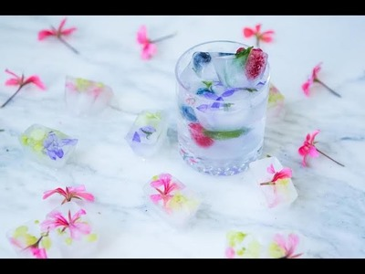How to: Fancy Fruit and Floral Ice cubes