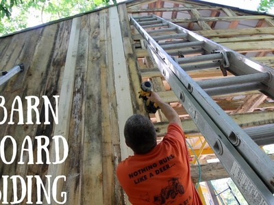 How to Install Rough Sawn Siding On the Off Grid OutDoor Kitchen