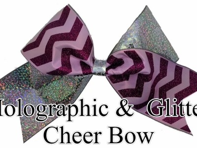 How To Make A Chevron Glitter Cheer Bow