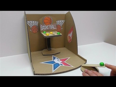 How to make a game basketball from cardboard Desktop Game from Cardboard