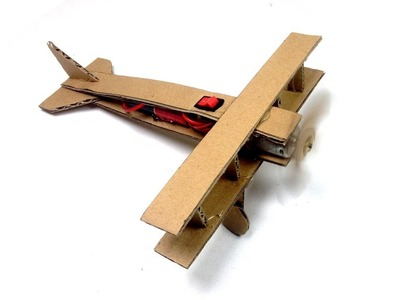 How to Make a Plane with DC Motor and Cardboard | How to Make a Flying Airplane | Toy Plane DIY