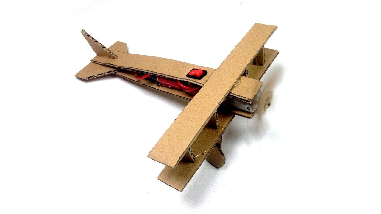 How to Make a Plane with DC Motor and Cardboard, How to Make