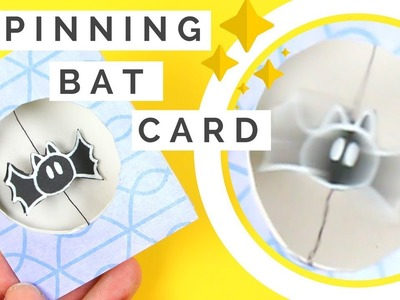How to Make a Spinning Card - Spinning Bat! REALLY SPINS