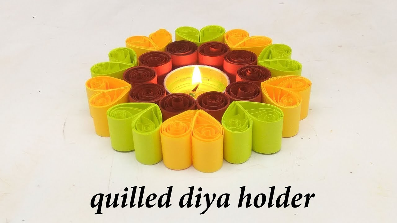 How to make diya holder at home. diwali decoration ideas at home. tea light candle holder