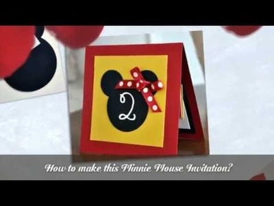 How to make Minnie Mouse invitations