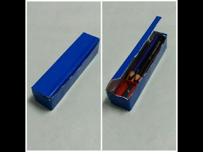How to make pencil box with tooth paste box || recycle tooth paste box