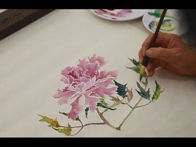 How To Painting Flowers in Chinese watercolor