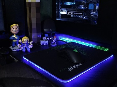 Laser cutting and building a custom RGB mouse pad