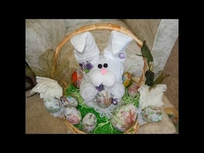 Make This Adorable Easy Easter   Bunny Out Of Material !