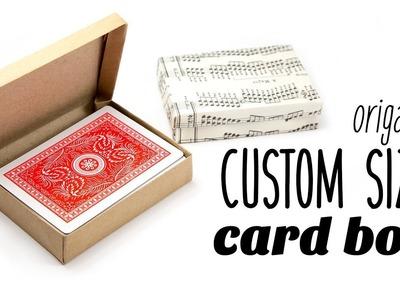 Origami Hinged Card Box - Custom Size ♥︎ Paper Kawaii