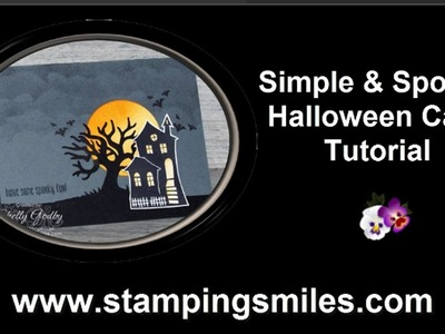 Simple and Spooky Halloween Card Tutorial