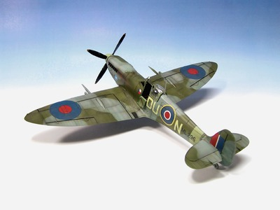 Supermarine Spitfire Mk.IXc Eduard 1.48 ww2 aircraft model - Part 2