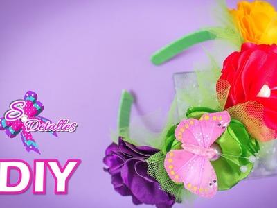 Tiaras (Cintillos) con Flores de Tela . Headband with Fabric Flower | Video# 24 | SDetalles | DIY