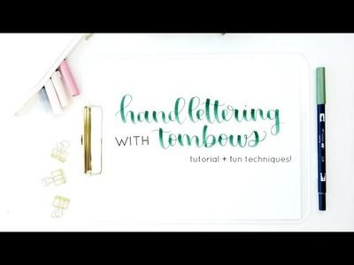 Tombow Dual Brush Pens Tutorial for Handlettering | Calligraphy, Blending + Techniques
