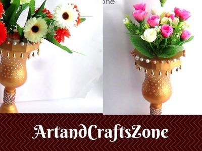 Waste bottle craft | Best out of waste plastic bottle |DIY Easy Plastic Bottle Flower Vases