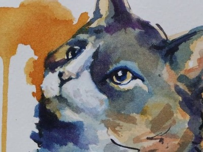 Watercolor Cat - Time Lapse Painting