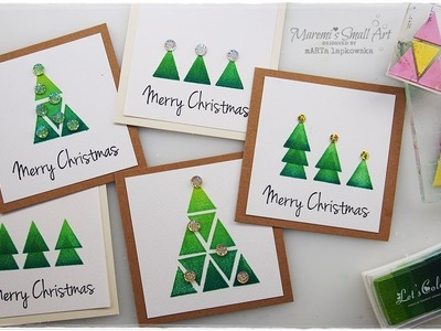 1 Triangle STAMP 5 Card Ideas for Christmas ♡ Maremi's Small Art ♡