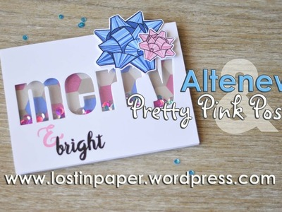 Altenew & Pretty Pink Posh Collab Hop - It had to be a Shaker Card!