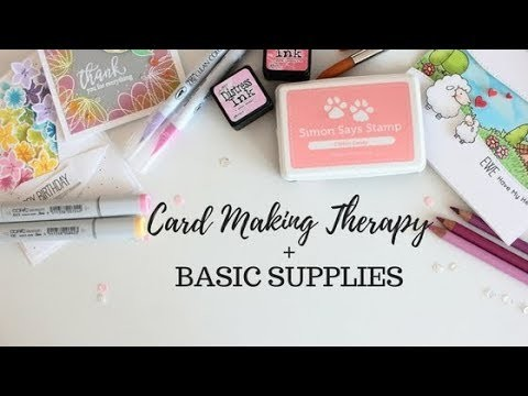 Basic Supplies for CARD MAKING + My story with an eating disorder + Blog Hop and Giveaway