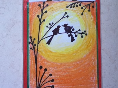 Beautiful drawing for children in simple steps(oil pastel shading)