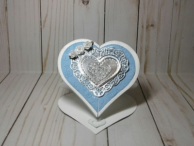 By Request Tutorial Interlocking Gatefold Heart Easel Card In Real Time
