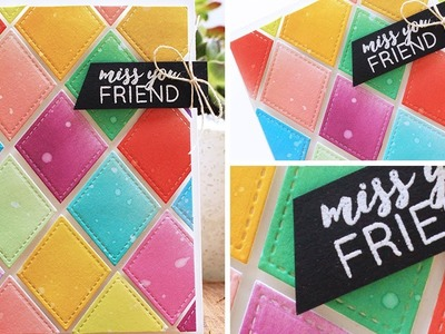 Creating Rainbow Cards with Distress Oxide Inks by Pretty Pink Posh