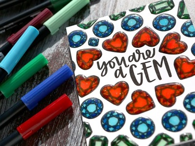 EASY MARKER COLORING - You're a Gem Card with Neat & Tangled Stamps