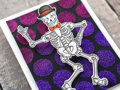 FUN HALLOWEEN SKELETON CARD - How to Use the Wiggle Wobble Sets from Art Impressions