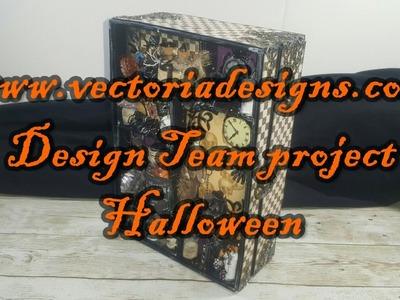 Halloween Scrapbook Mini Album Shadowbox VectoriaDesigns ( Design team project ) part 2