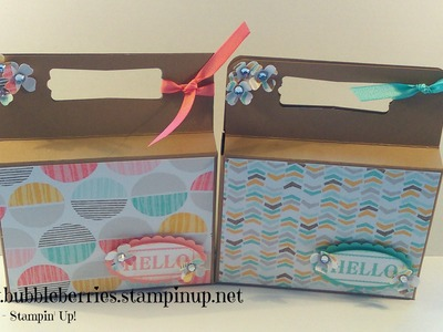 """ Hello "" Treat or Gift Box using Stampin' Up!"