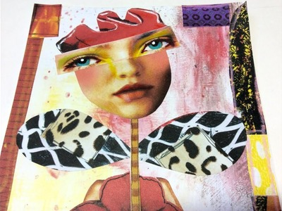 How to Collage Quirky Characters - Class 2  Rosebud