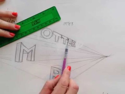 How to draw 2 Point Perspective Letters