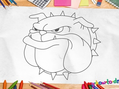 How to draw a Bulldog - Easy step-by-step drawing lessons for kids