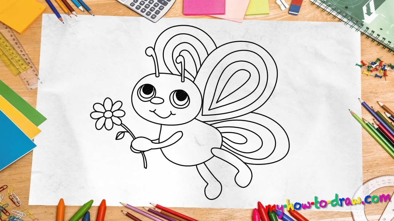 How To Draw A Butterfly Easy Step By Step Drawing Lessons For Kids