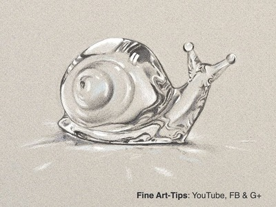 How to Draw a Crystal Snail - Baccarat Style - Narrated