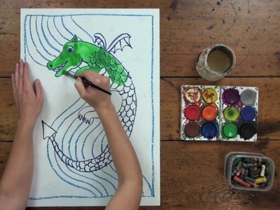 How to draw a dragon - Step by Step Art Lesson