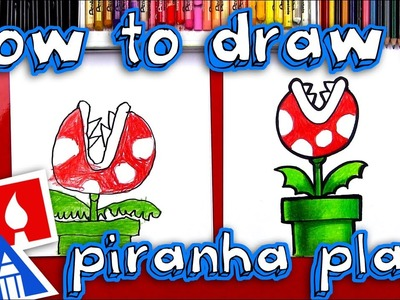 How To Draw A Mario Piranha Plant