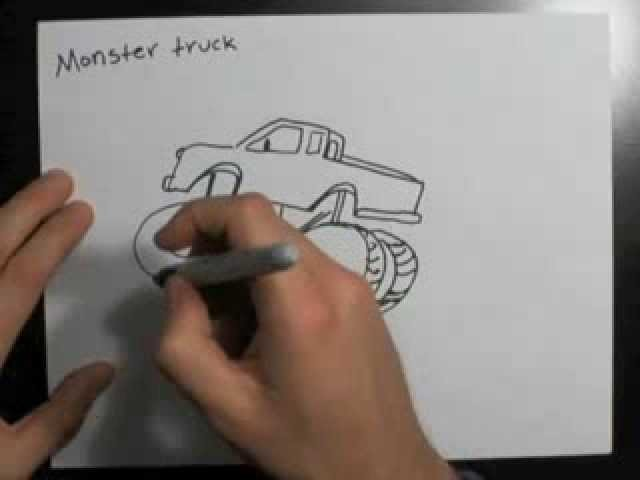 How to Draw a Monster Truck | Drawing Ideas
