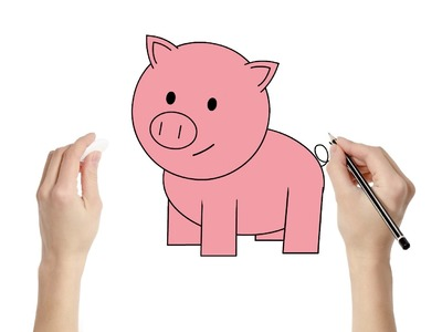 How to Draw a Pig : Fun learning art activity for kids